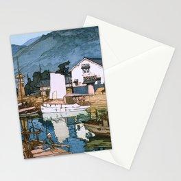 Yoshida Hiroshi - The Inland Sea Series, Second Series - Tomonoura Harbor  Stationery Cards