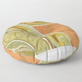 Grenouilles et nenuphars bordure libellules pochoir poissons volants libellules bordures milan et ra Floor Pillow