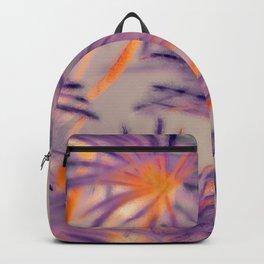 Purple Fairy Flowers Backpack