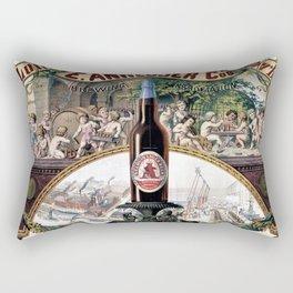 Vintage 1879 St. Louis Anheuser Brewing Lithograph Wall Art Rectangular Pillow