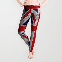 Union Jack Grunge Flag Leggings