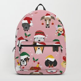 Christmas Dog Pattern Illustration Backpack
