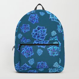 Succulents in the sunshine in blue  Backpack