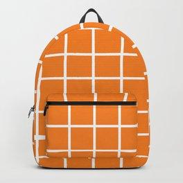 Orange Grid Pattern 2 Backpack