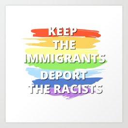 Against Racism Art Print