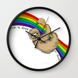 Pride Sloth Wall Clock