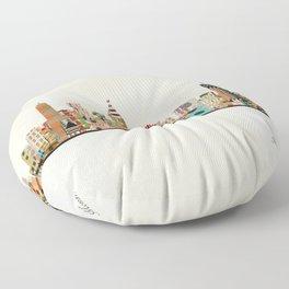montreal skyline Floor Pillow
