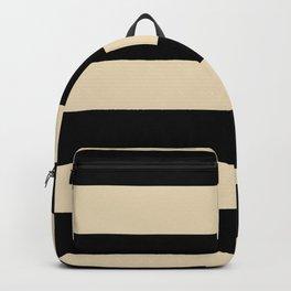 Valspar America Wood Yellow - Homey Cream - Glow Home Hand Drawn Fat Horizontal Stripes on Black Backpack