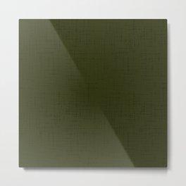 Dark olive textured. 2 Metal Print