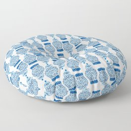 Pattern Blue Ginger Jars Jar  Floor Pillow