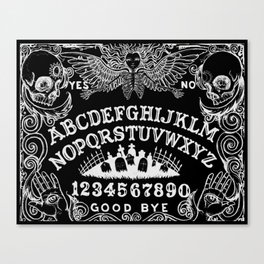 Ouija Board Black Canvas Print