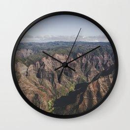 Mountain Valley Canyon - Kauai, Hawaii Wall Clock