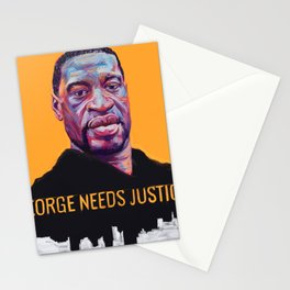 George Needs Justice Stationery Cards
