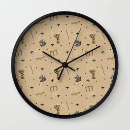 Honey Badger & Wizardry Pattern Wall Clock