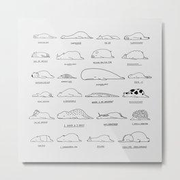 Moody Animals Pattern Metal Print