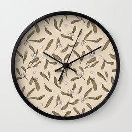 Mistletoe Pattern Wall Clock