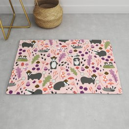 A Cete of Badgers Rug