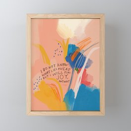 Find Joy. The Abstract Colorful Florals Framed Mini Art Print