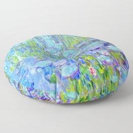 Water Lilies monet : Nympheas Floor Pillow