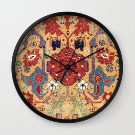 Sauj Bulag Azerbaijan Northwest Persian Rug Print Wall Clock