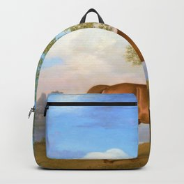 Pumpkin With A Stable-lad - George Stubbs Backpack