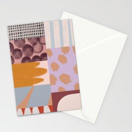 Modern Collage - Minimalism Collage - Earth Tone Collage Stationery Cards