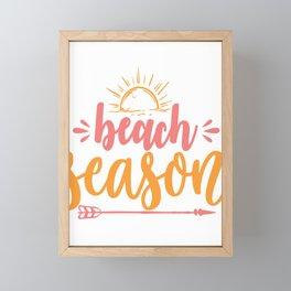 Beach season - Adventure Design Framed Mini Art Print