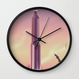 vintage Soviet rocket launch Wall Clock