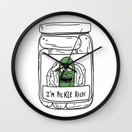 Pickle Rick Wall Clock