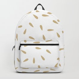 Watermermelon Seeds on White Background Backpack