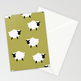 cute white lambs Stationery Cards