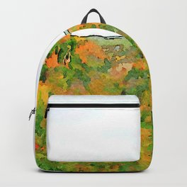 Barbarano Romano: landscape with autumnal forest Backpack
