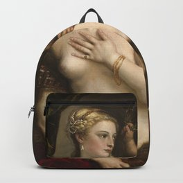 "Titian Venetian,Fine ART,""Venus with a Mirror"",anno1555, oil on canvaSWall Art Backpack"