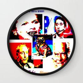 British Bulldogs. UK POLITICS. TELETEXT ART. 1980s politicians. Wall Clock