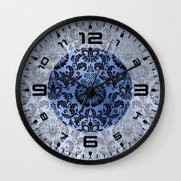 Classic Blue Swirls 14 Wall Clock