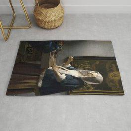 "Johannes Vermeer ""Woman Holding a Balance"" Rug"