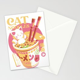 Cat Noodles Stationery Cards