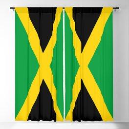 Flag of Jamaica - Jamaican flag Blackout Curtain