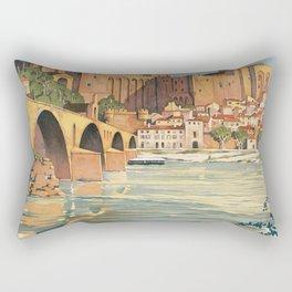 Avignon vintage travel poster Rectangular Pillow