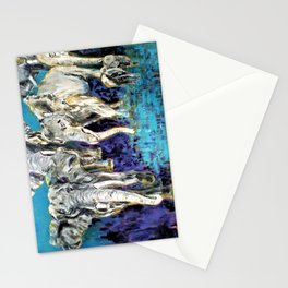 African Elephant  Family Stationery Cards