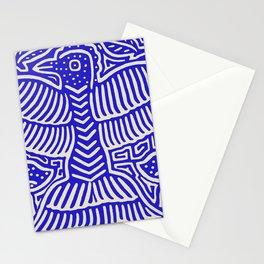 San Blas Island Pajaro - Blue Stationery Cards