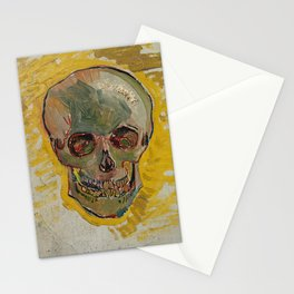 Vincent Van Gogh Skull Painting Stationery Cards