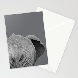 Elephant Wet Bum (Grey) Stationery Cards