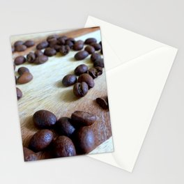 Scattered Coffee Beans Stationery Cards