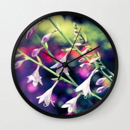 Bold Purple Flowers Wall Clock