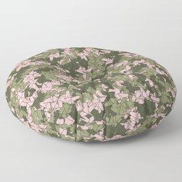 Origami Unicorn Camo PINK Floor Pillow