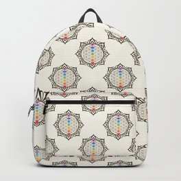 Flower of Life Chakra Healing Mandala Backpack