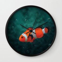 Clown fish in the sea Wall Clock