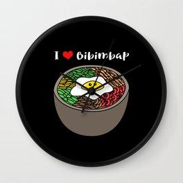 Kdrama Kpop Cute Korean Food I Love Bibimbap Wall Clock