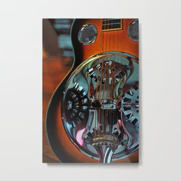 Heart Strings By Inez Benoit - Sweet Dobro Metal Print